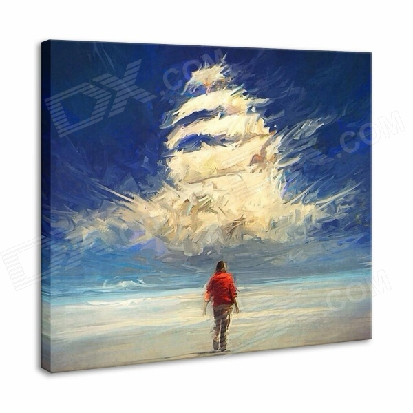 Iarts Hand-painted Noah's Ark Oil Painting - Red (60 x 60cm) iarts hand painted blue vase oil painting 60 x 40cm