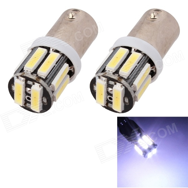 MZ BA9S 5W 300LM 6500K 10 x SMD 7020 LED White Car Clearance Lamp / Side Light (12V / 2 PCS)