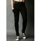 Men's Hip Hop Style Lace-up Blend Long Cotton Baggy Sweatpants - Black (L)