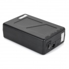 "Large-Capacity ""3800mAh"" External Li-ion Battery Power Bank Set - Black"