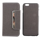 "PU leder + PC Wallet Style Flip Open Case w / Card Slot voor 4.7 ""IPHONE 6 - Grijs"