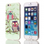 "Shimmering Owl Pattern Protective TPU Back Case for 4.7"" IPHONE 6 - Green + Multi-Color"