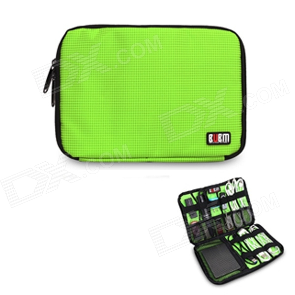 BUBM Portable Digital Accessories Nylon Storage Organizer Bag - Green (10L) bubm mixer protection portable bag ddj sz controller bag dj gear case storage organizer turntables devices bag