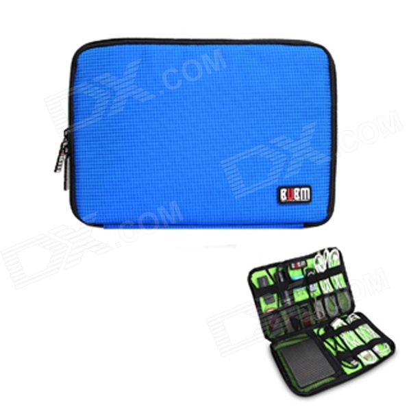 BUBM Portable Digital Accessories Nylon Storage Organizer Bag - Blue (10L) bubm mixer protection portable bag ddj sz controller bag dj gear case storage organizer turntables devices bag