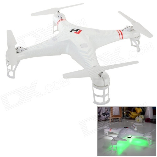 JJRC X46V 2.4GHz 4.5-CH IR Outdoor R/C Helicopter Quadcopter w/ Gyro / 300KP Camera - White + Red