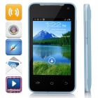 "H-mobile F1 MTK6572AX Dual-Core Android 4.2.2 GSM Bar Phone w/ 3.5"", Quad-band, Wi-Fi - Blue + Black"