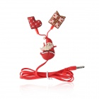 Easier CE-01 Christmas's Gift In-Ear Earphones w/ Microphone - Red (3.5mm Plug / 1.2m Cable)