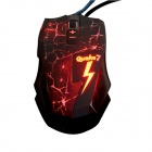 Ajazz 1150041 Q7 USB 2.0 Wired 800 / 1200 / 1800 / 2400dpi 8-Button Gaming Mouse - Red