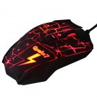 Ajazz 1150041 Q7 USB 2.0 filaire 800/1200/1800/2400 dpi 8 boutons Gaming Mouse - Rouge