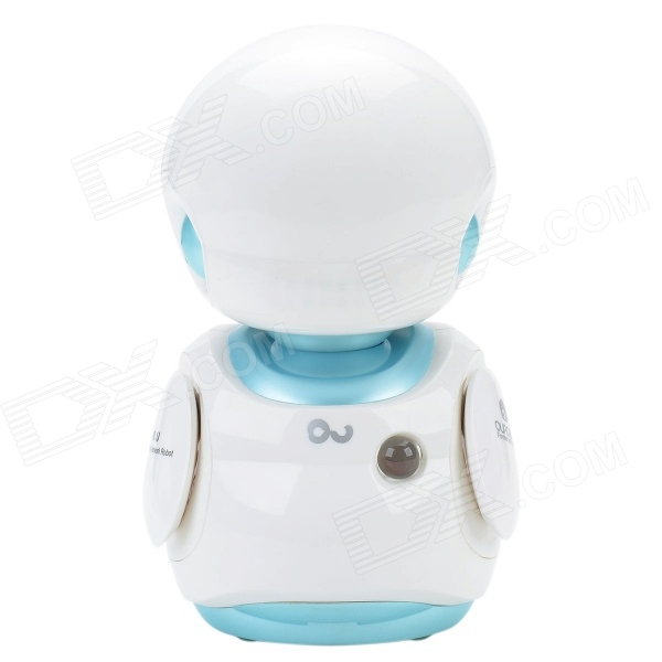 OU-FS8 Multifunction Early Childhood Educational Music Robot Toy w/ Interaction / LED - White + Blue mohd mazid and taqi ahmed khan interaction between auxin and vigna radiata l under cadmium stress