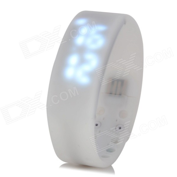 W2 USB LED Smart Wrist Band w/ Time / Calorie / 3D Pedometer / Temperature / Sleep Monitor - White sennheiser ie 4