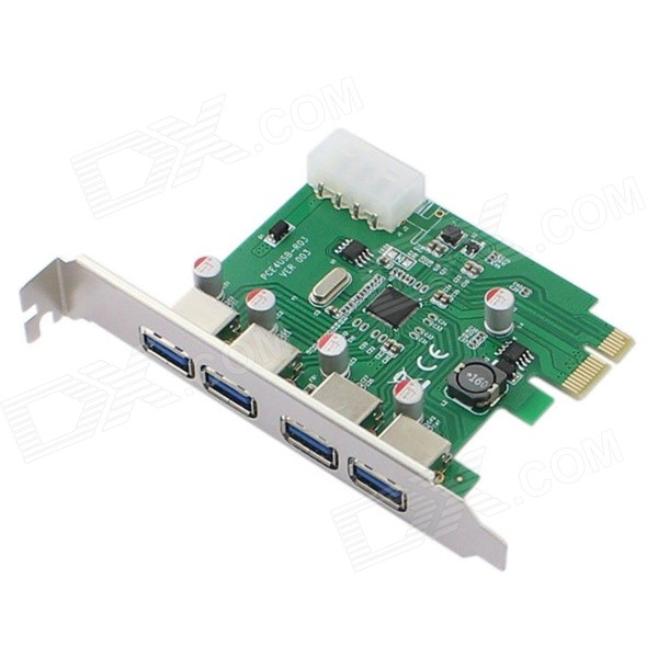 4-Port USB 3.0 Super Speed ​​PCI-E Card Controller
