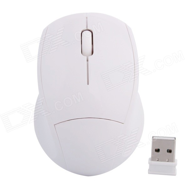 2.4GHz Wireless High-frequency DPI 1000 Optical Mouse - White