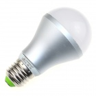 ZHISHUNJIA  E27S12 E27 12W 800lm 3000K 24-SMD 5630 LED Warm Light Bulb - White + Silver (85~265V)
