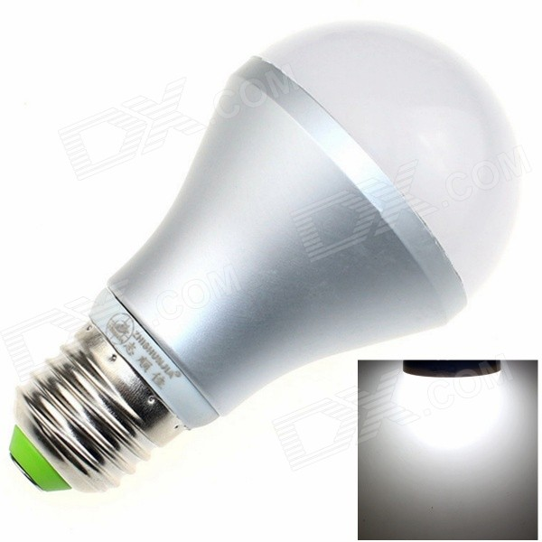 ZHISHUNJIA  E27S12 E27 12W 800lm 6000K 24-SMD 5630 LED White Light Bulb - White + Silver (85~265V)