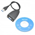 CHEERLINK 1920 x 1080 USB 3.0 to VGA Adapter - musta
