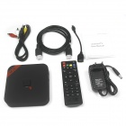MXQ Quad-Core H.265 Android 4.4.2 Google TV Player Mini PC w/ 1GB RAM, 8GB ROM, EU Plug - Black