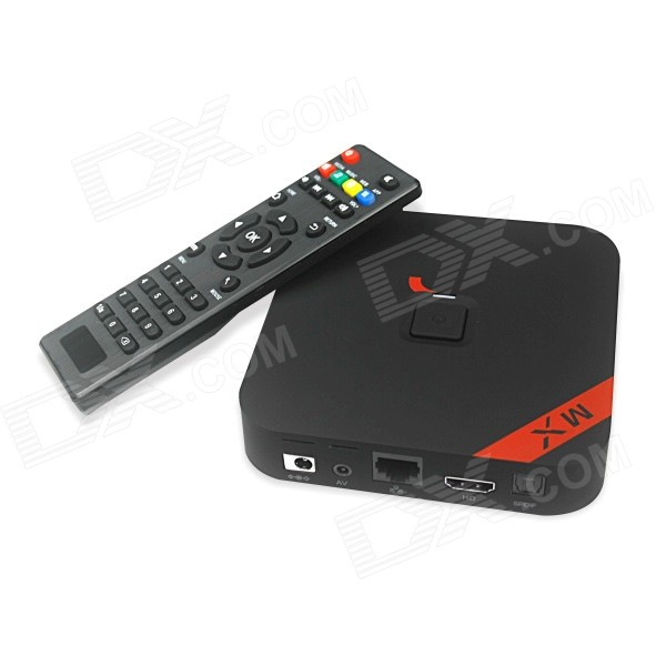 MXQ Quad-Core H.265 Android 4.4.2 Google TV Player Mini PC w/ 1GB RAM, 8GB ROM, US Plug - Black