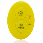 Wireless Bluetooth V3.0 Selfie Camera Remote Shutter for IOS / Android System - Yellow (1 x CR2032)
