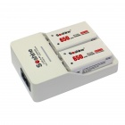 Soshine SC-V1(2) EU Plug Li-ion / Ni-MH Battery Charger w/ 2 x 9V Li-ion 650mAh Battery - White