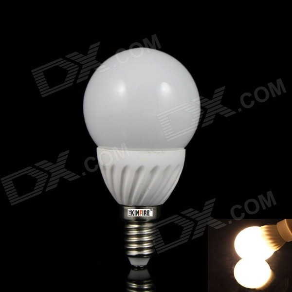 KINFIRE TT-5W E14 5W 380lm 3000K 18-SMD 3528 LED Warm White Light Bulb - White (AC 220V)