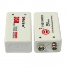 Soshine SC-V1 EU Plug Li-ion / Ni-MH Battery Charger w/ 2 x 9V Ni-MH 350mAh Battery - White