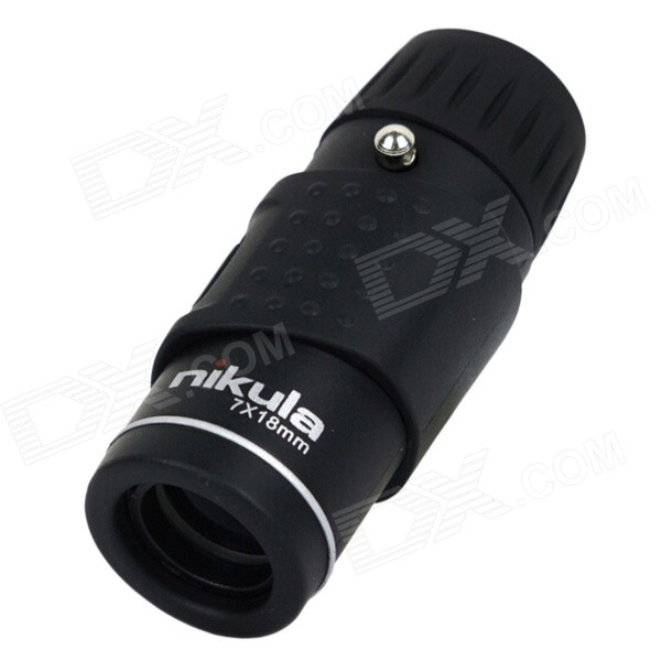 Nikula KM30718 7x Magnification Portable Pocket Monocular Telescope - Black