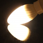 KINFIRE C-5W E14 5W 380lm 3000K 18-SMD 3528 LED Warm White Ceramic Candle Lamp - White (AC 220V)