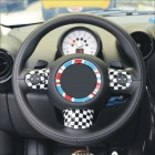 Carking DIY ABS Steering Wheel Covers for BMW Mini Cooper - Black + White