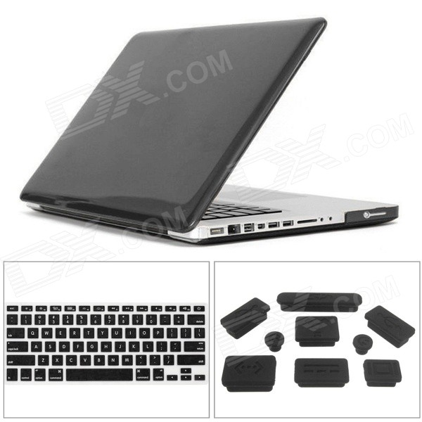 Mr.northjoe Slim Case + Keyboard Cover + Anti-dust Plugs - Transparent