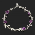 Lovely Rose Bracelet Party Gift Purple