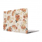 "Hat-Prince Flowers Patterned Protective Matte Full Body Case for MacBook Air 13.3"" - Red"