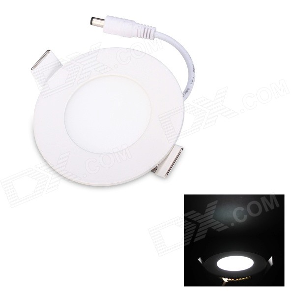 JoYda M85Y 3W 300lm 6200K 15-SMD 2835 LED White Waterproof Ceiling Panel Lamp - White  (AC 90~265V) kinfire round 3w 265lm 6500k 15 x smd 3528 led white light ceiling lamp w driver ac 85 265v