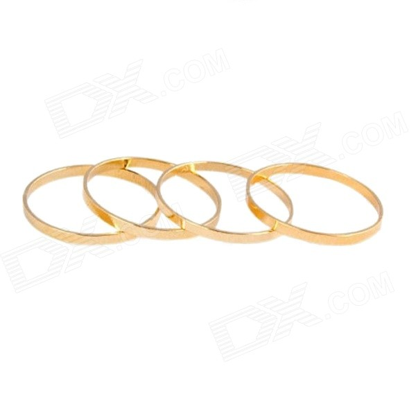 Fashion Women's Zinc Alloy Joint Finger Rings Set - Golden
