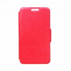 "Kinston Rainbow Series Silk Pattern PU Leather Full Body Case w/ Stand for IPHONE 6 4.7"" - Red"