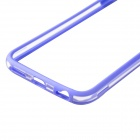 "Protective TPU + PC Bumper Frame for 4.7"" IPHONE 6 - Purple + Transparent"