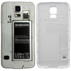 Girl Pattern Protective PC Battery Back Case for Samsung Galaxy S5 - White + Grey