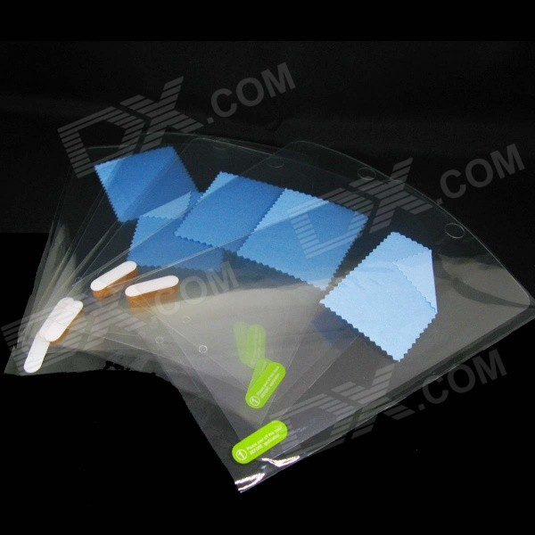 Protective Clear PVC Screen Protectors for IPAD AIR - Transparent (10 PCS)