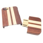 Detachable Protective Wood Back Case for IPHONE 5 / 5S - Red + Yellow