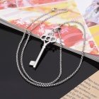 KCCHSTAR Fashion Key Shaped 316L Stainless Steel Pendant Necklace - Silver