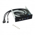 2-Port USB 3.0 Socket+ 2-Port USB 2.0 Socket CD-ROM Drive Front Panel for Chassis - Black