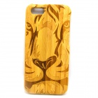 Tiger Pattern Detachable Protective Bamboo Back Case for IPHONE 5 / 5S - Yellow