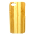 Detachable Protective Bamboo Back Case for IPHONE 5 / 5S - Yellow + Wood