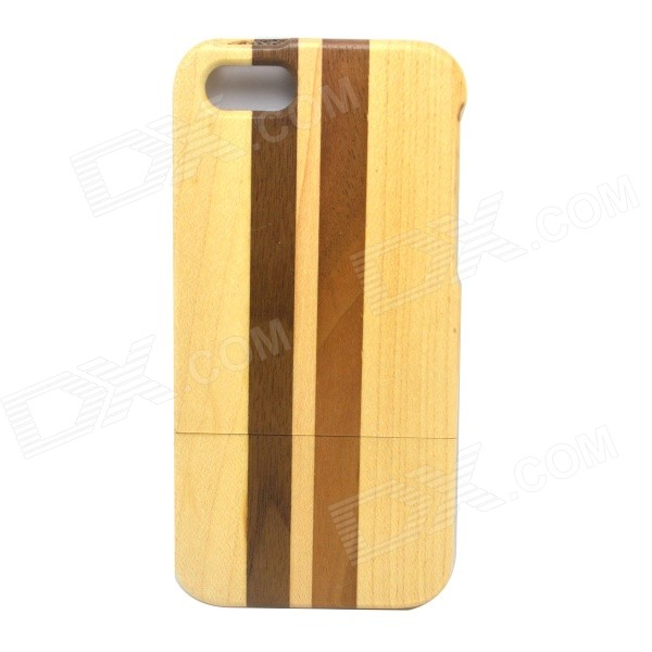 Detachable Protective Wood Back Case for IPHONE 5 / 5S - Wood + Brown