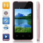 "H-mobile F1 MTK6572AX Dual-Core Android 4.2.2 GSM Bar Phone w/ 3.5"", GPS, FM - Pink + Black"