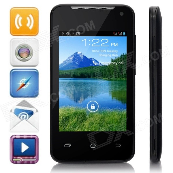 H-mobile F1 MTK6572AX Dual-Core Android 4.2.2 GSM Bar Phone w/ 3.5