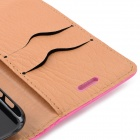 "Protective PU Leather + PC Case for IPHONE 6 4.7"" - Deep Pink"