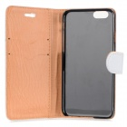 "Protective PU Leather + PC Case for IPHONE 6 4.7"" - White"