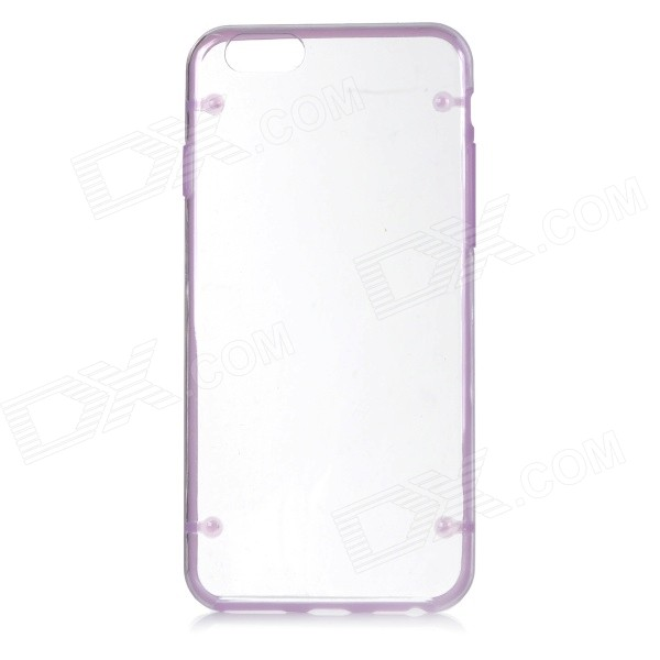 "Glow-in-the-Dark Protective PC Back Case for IPHONE 6 4.7""  - Transparent + Purple"