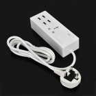 4-USB Hub + Outlet UK Plug Socket Strip w/ Switch / Indicator